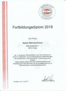 Fortbildungsdiplom 2018